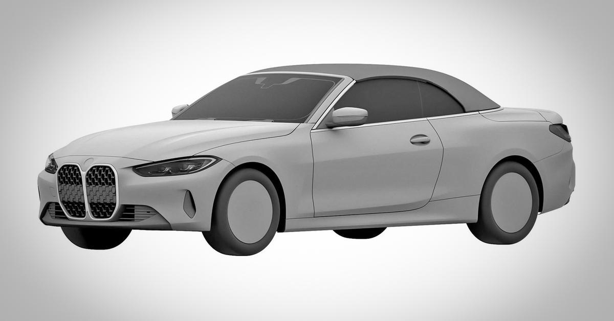 Вот так будет выглядеть кабриолет BMW 4 серии с огромными «ноздрями» — Motor