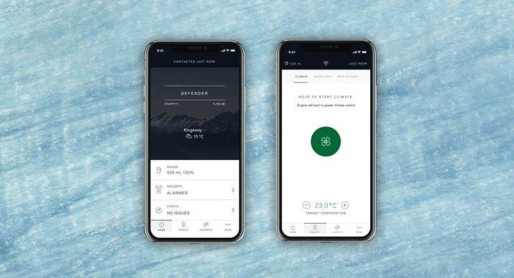 Jaguar Land Rover обновил приложение для смартофонов