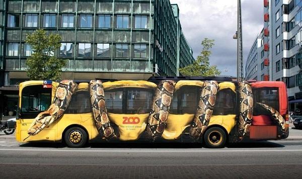 Оригинальная реклама на транспорте